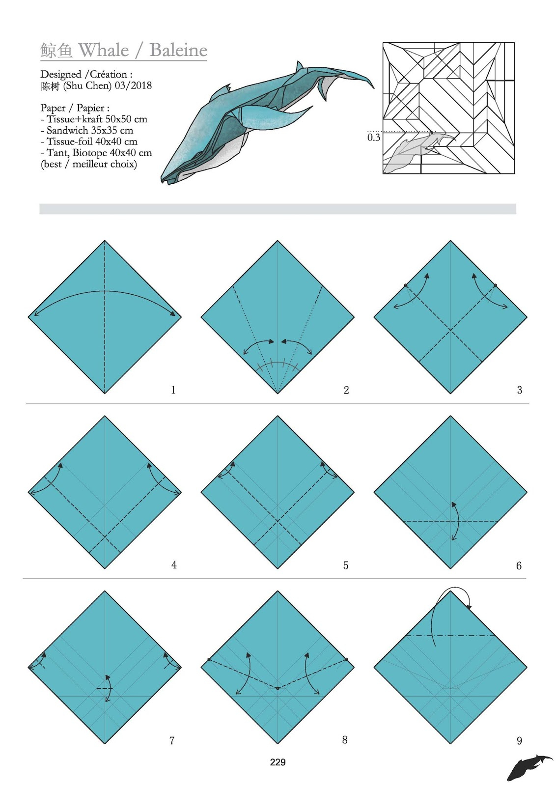 Ruby Book Origami: Diagram Blue Whale-Shu Chen regarding Chen Diagram
