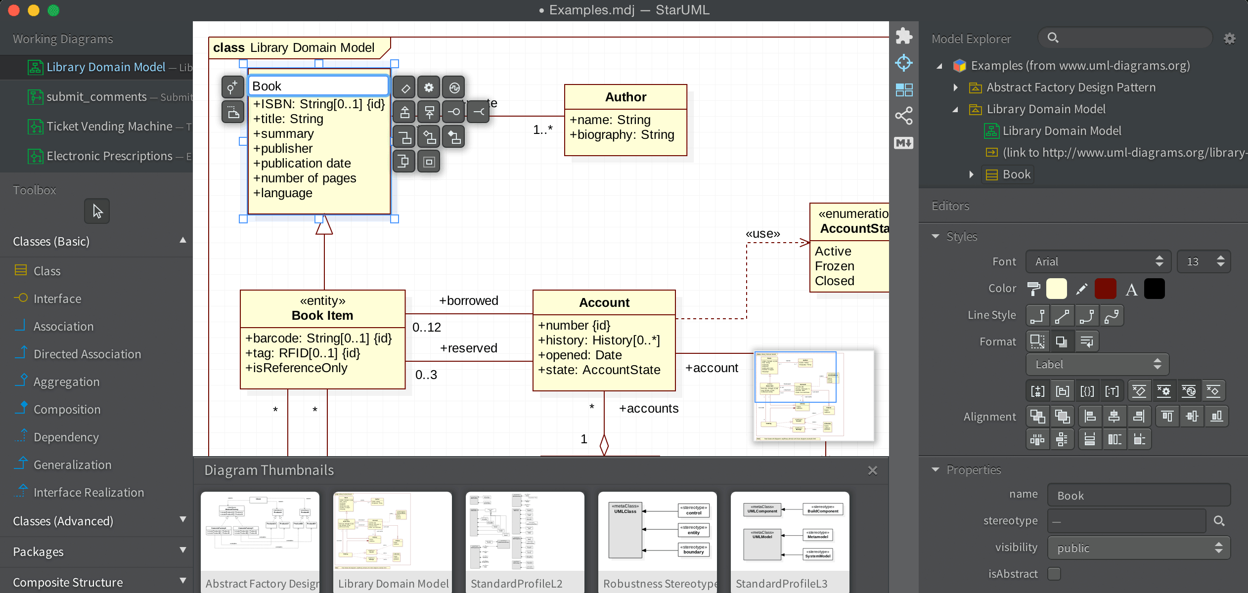 Staruml throughout Entity Relationship Modell Tool Free