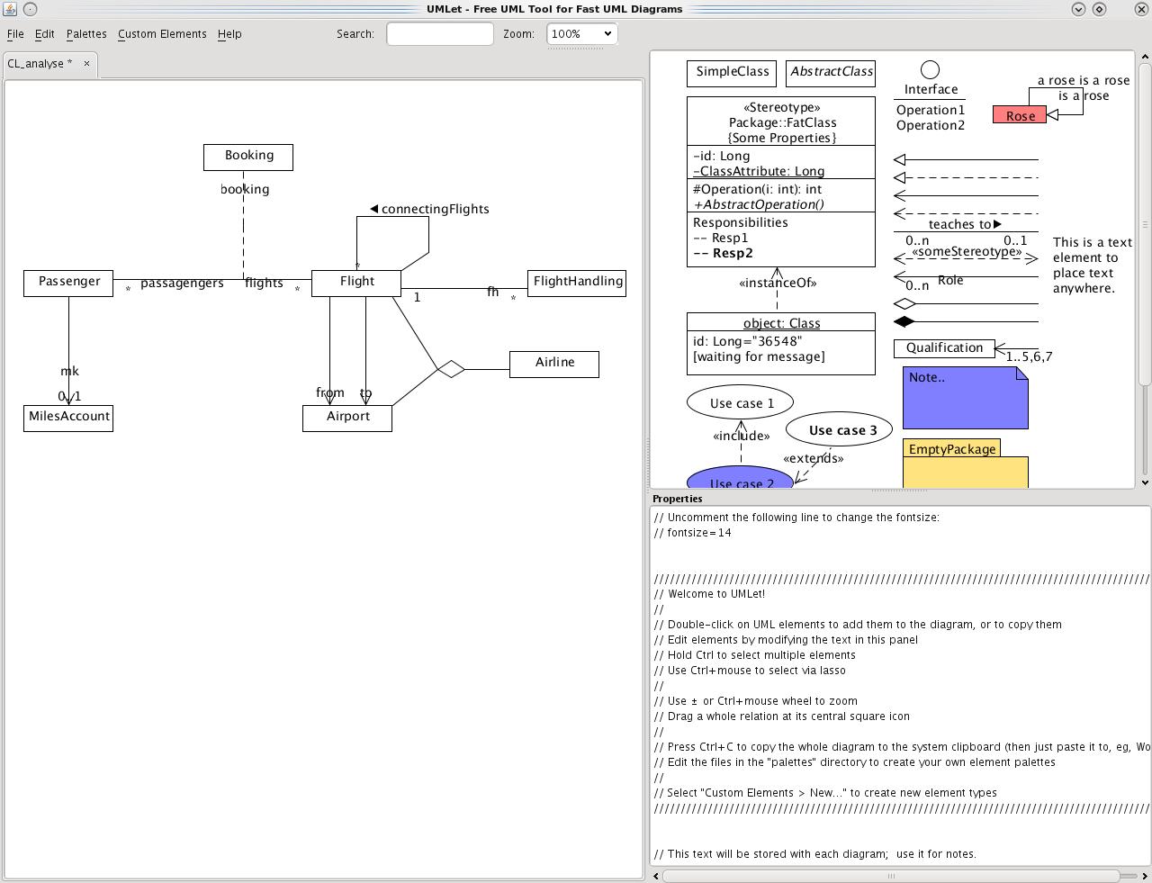 Umlet - Uml, Datenbank-Diagramme Und Mehr in Datenbank Diagramm
