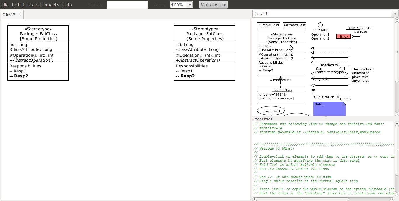 Umlet - Uml, Datenbank-Diagramme Und Mehr within Datenbank Diagramm