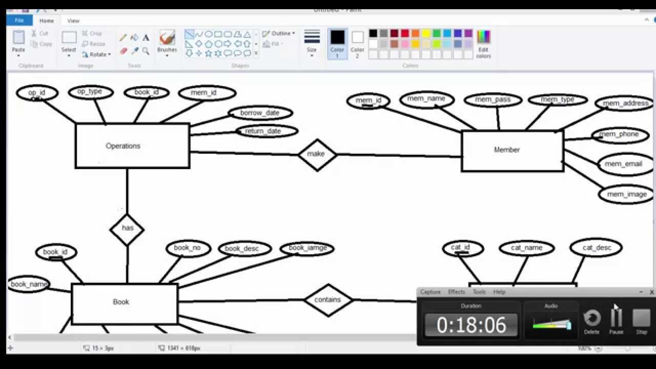 3- شرح عمل Erd للمشروع in Er Diagram 0..*