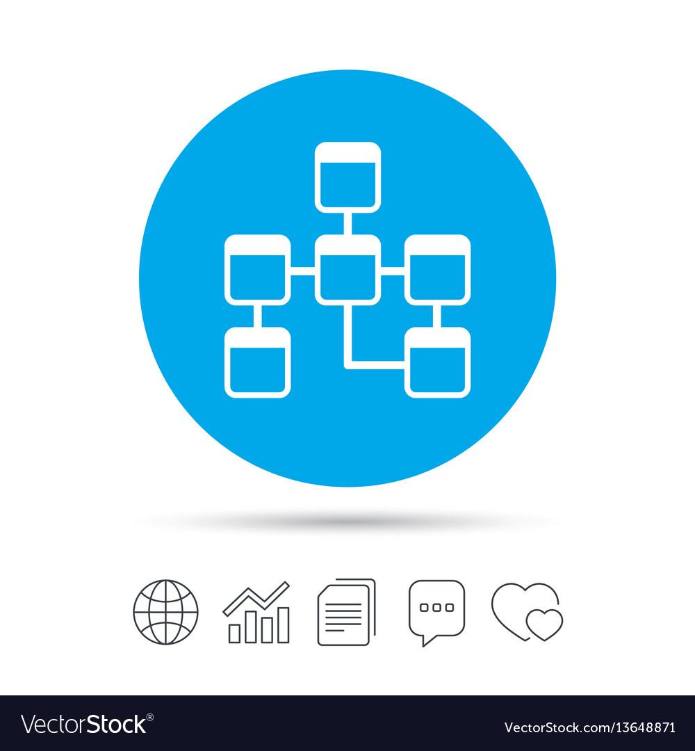 Database Sign Icon Relational Database Schema regarding Database Schema Symbols