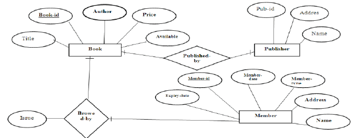 Er Diagram Library Management System - Docsity intended for E Library Er Diagram