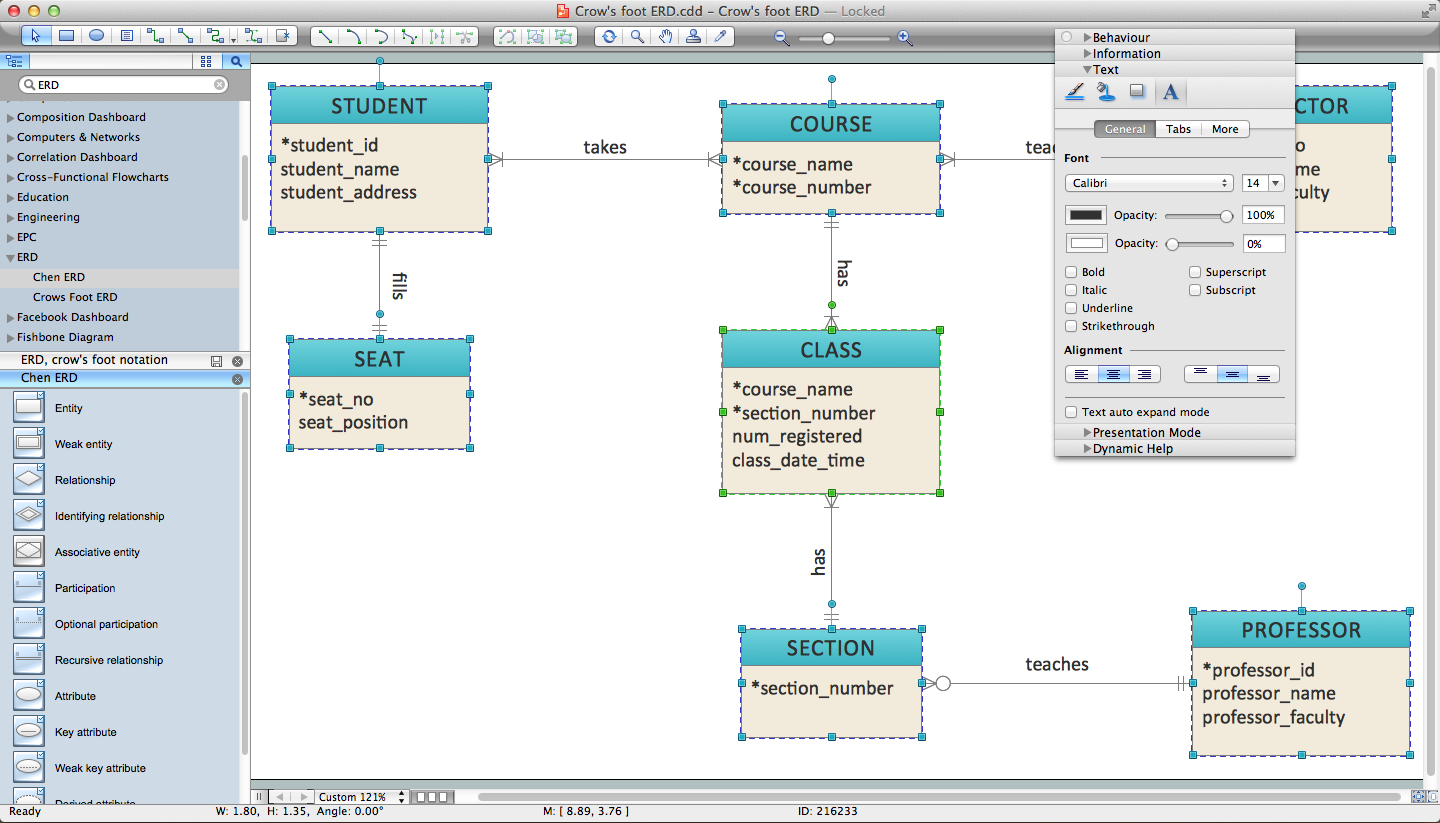 Er Diagram Programs For Mac | Professional Erd Drawing intended for Entity Relationship Diagram Editor