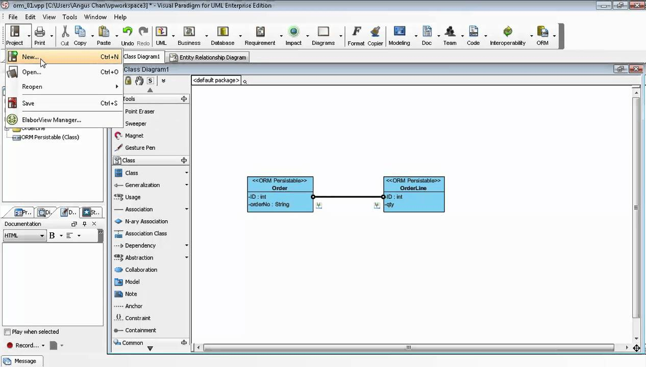 Generate Erd Relationship From Uml Association In Class Diagram in Er Diagram In Visual Studio