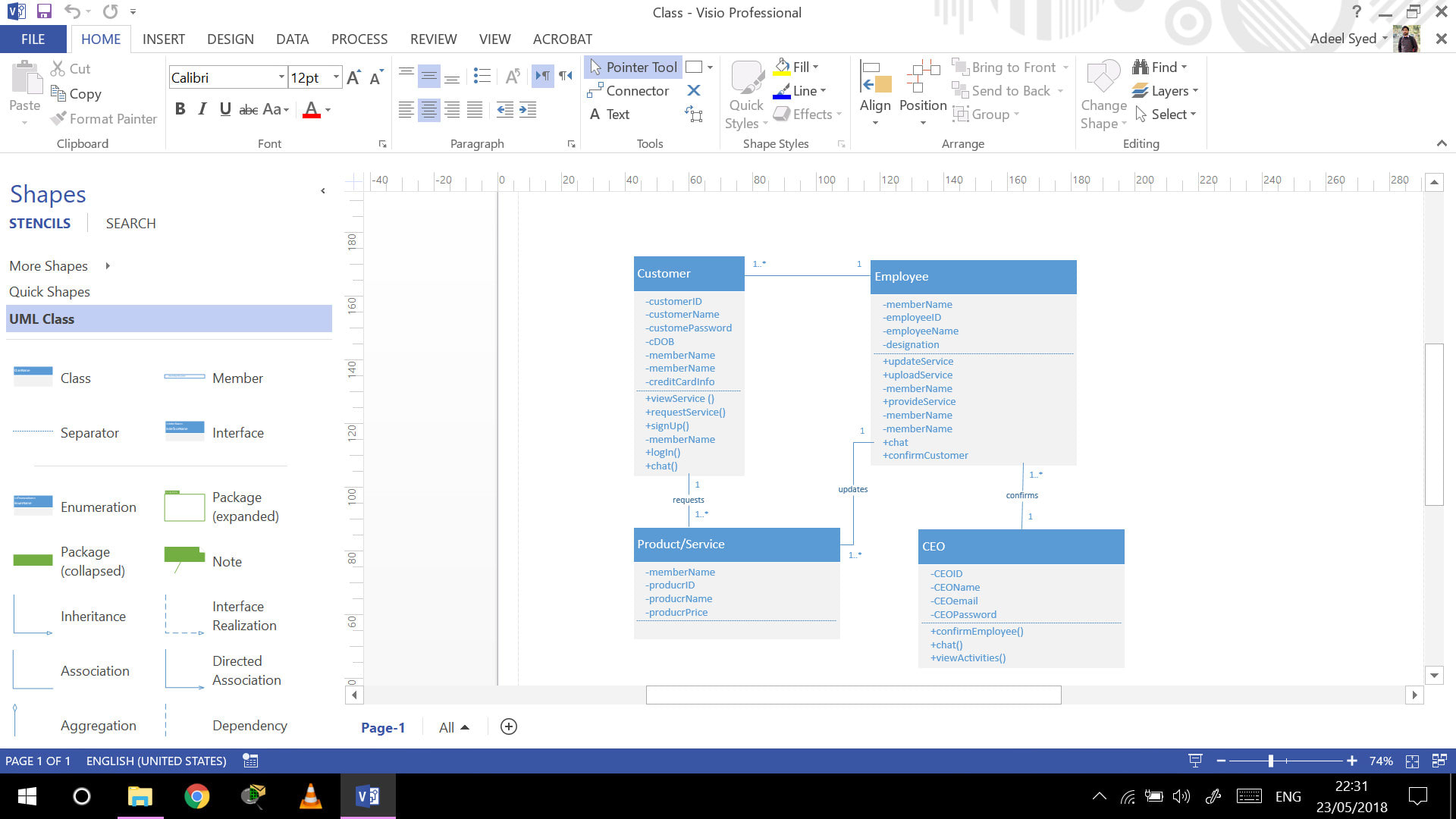 Make Erd,class,usecase And Uml Diagrams On Microsoft Visio within Er Diagram In Visio