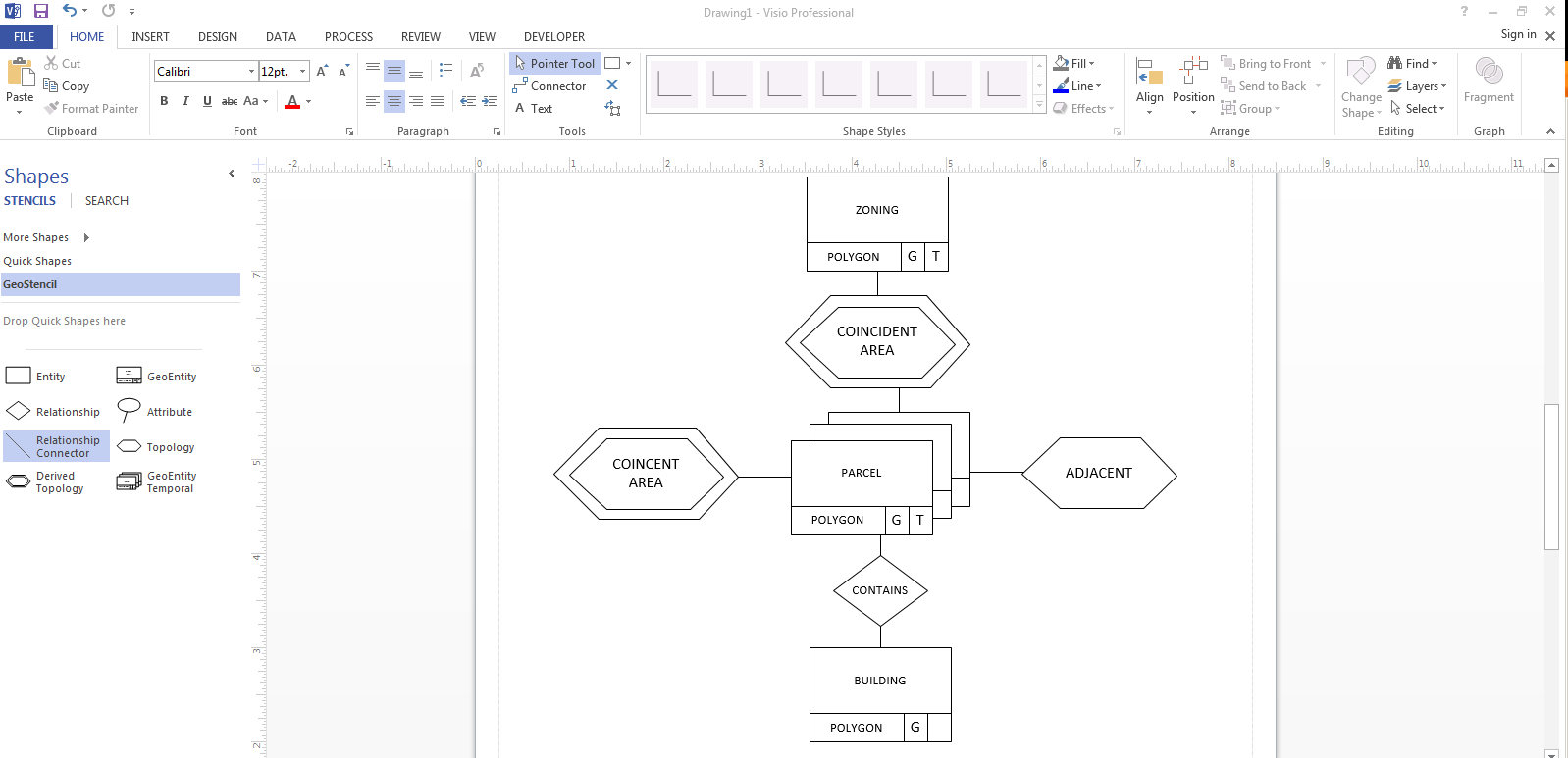Matt Mccormick: Geodatabases, Er Diagrams, And Visio intended for Er Diagram In Visio