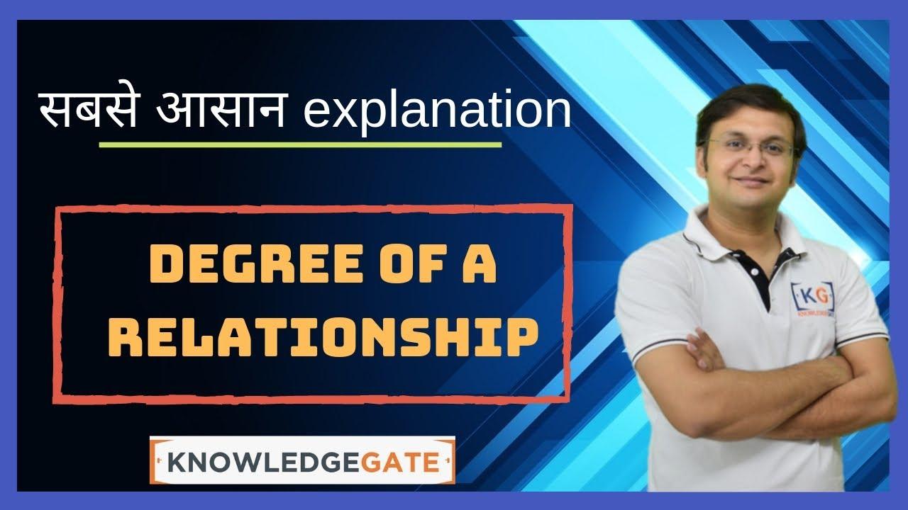 Part 2.5 Degree Of A Relationship In A Er Diagram In Dbms In Hindi Name  Degree Cartesian Ratio regarding Er Diagram Nptel